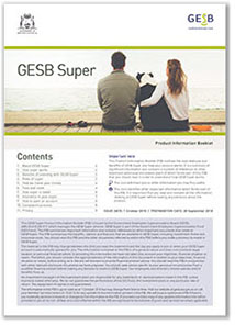 GESB Super Product Information Booklet image