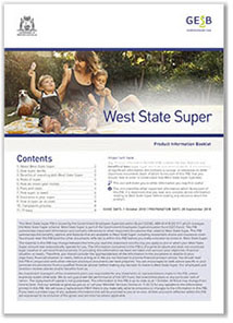 West State Super Product Information Booklet image