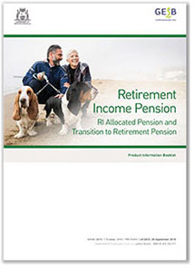Retirement Income Pension Product Information Booklet