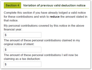 How to claim or vary a tax deduction form - variance amount