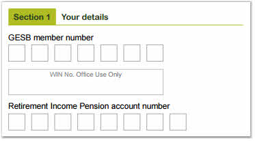 Investment choice form Retirement Income Allocated Pension account number